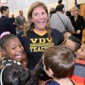 Lindsay Frevert '05 enjoys red carpet treatment as winner of $25,000 national teaching award